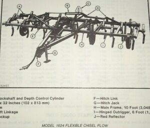 John Deere 1600 Series 1624 Chisel Plow Parts Catalog Manual Jd Original 9 79