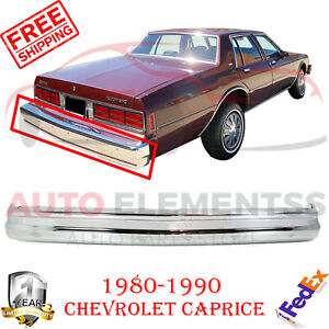 Rear Bumper Chrome Steel For Chevrolet Caprice 1980 1990 Impala 1980 1985