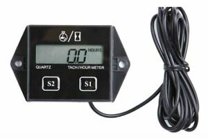 Lcd Display Digital Tachometer Engine Tach Hour Meter Gauge