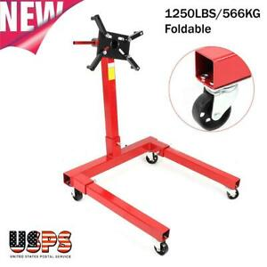 1250lbs 566kg Foldable Engine Overturn Stand Hoist 360degree Maintenance Tool Us