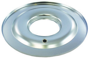 Chrome 14 Round Steel Air Cleaner Base Flat Raised 4 Brl 5 1 8 Openings Sbc