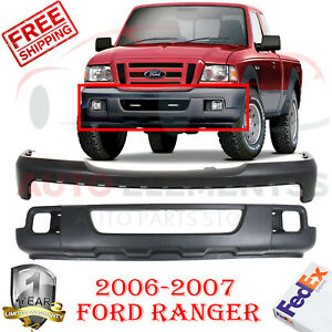 Front Bumper Cover Primed Low Valance Texture For 06 07 Ford Ranger Xl Xlt Fx4
