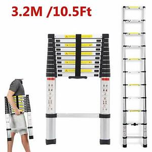 Folding 10 5ft 12 5ft Aluminum Multipurpose Ladder Garden Tool Extend Telescopic
