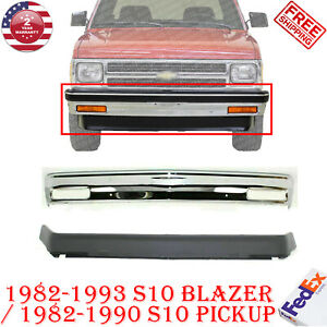 Front Bumper Chrome Lower Valance Primed For 82 93 Chevy S10 Gmc S15 Pickup