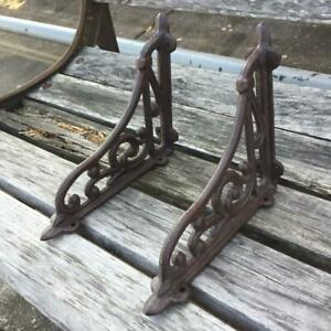 Vintage Antique Style Cast Iron Bracket Garden Braces Rustic Shelf Bracket Coffe