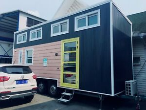 Modern Tiny House On Trailer fully Furnished Home Shipping Included
