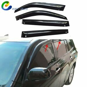 For 2008 2013 Toyota Highlander Window Visor Sun Rain Guard Vent Shade 4pcs Set