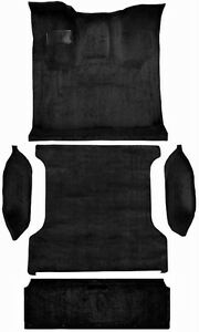 Acc 94 96 Ford Bronco Black Molded Carpet Rug Complete With Tailgate
