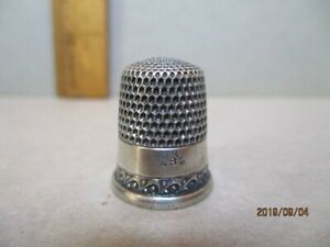 Vintage Sterling Thimble By Simons Bros Pa C 1900 Size 8
