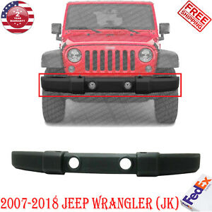 Front Bumper Cover Textured W Fog Light Holes For 2007 2018 Jeep Wrangler jk