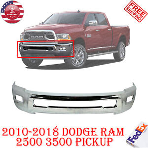 Front Bumper Chrome Steel For 2010 2018 Dodge Ram 2500 3500 W o Pas Holes