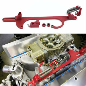 Red Throttle Cable Carb Bracket For Holley 4150 4160 Carburetor 350 Engine Parts