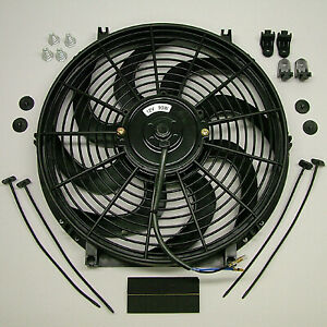 Speed 2053s Electric Cooling Fan 14 S blade Curved 2000 Cfm Reversible
