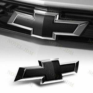 New For 2014 2018 Chevy Chevrolet Impala Front Grill Grille Bowtie Emblem Black