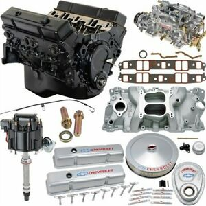 Jegs 5658k4 Small Block Chevy 355ci Crate Engine Kit Pre 1986 Cast Iron Cylinder