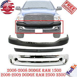Front Bumper Chrom Text Inner Filler Up Cover For 06 09 Dodge Ram 1500 3500