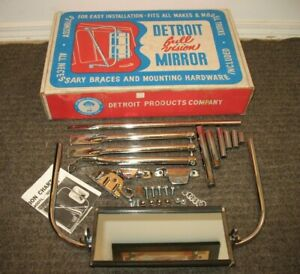 Vintage Detroit Products Co Truck Camper Side Full Vision Mirror 400 Tlc W Box