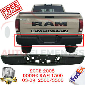 Rear Step Bumper Primed Steel For Dodge Ram 1500 2002 2008 2500 3500 03 2009