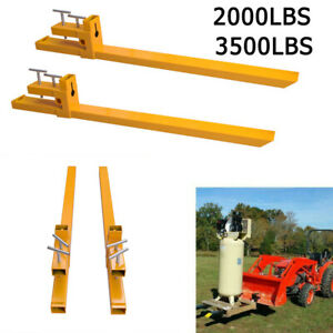 Hd 2000lbs 3500lbs Clamp On Pallet Forks Loader Bucket Tractor Parts Heavy Duty