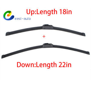 Pair Windshield Wiper Blades J Hook Quality 22 18 Inch Bracketless Frameless