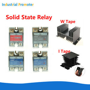 10a 25a 40a 50a 60a Solid State Relay Ssr Dc ac Dc dc Ac ac With Heat Sink