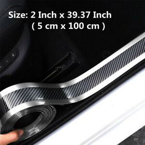 Universal Car Sticker Carbon Fiber Molding Threshold Rubber Protector Parts