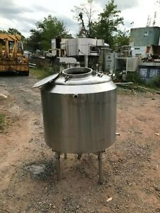 100 Gallon Stainless Steel Jacketed Tank