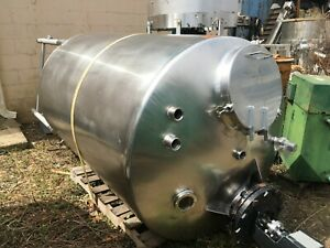 750 Gallon 316 Stainless Steel Agitated Tank Last Used For Fruit Juice