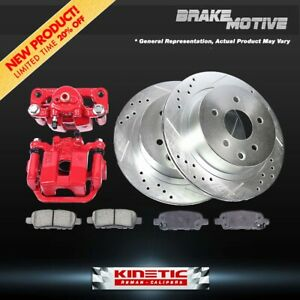 Rear Brake Calipers And Rotors Pads For Audi A3 Vw Volkswagen Eos Jetta