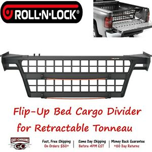 Cm530 Roll N Lock Alum Flip Up Bed Cargo Divider Works With Retractable Tonneau