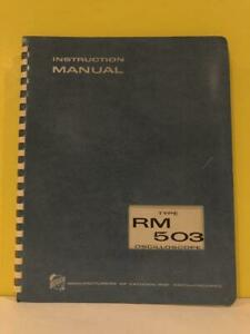 Tektronix 070 314 Type Rm 503 Oscilloscope Instruction Manual