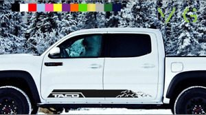 Taco Toyota Tacoma Vinyl Decal Sticker Trd Sport Side Door X2 Any Color 010