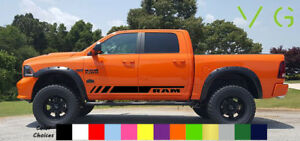 Dodge Ram Vinyl Decal Sticker Graphics Sport Side Door X2 Any Color 033