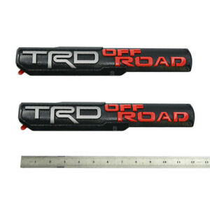 2x New Oem Trd Offroad Emblem 3d Fits Tacoma Trd Off Road Badge Black Red W1