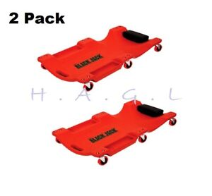 Mechanic Creeper Bed Heavy Duty Auto Body Shop Tools Garage Repair Red Pack Of 2