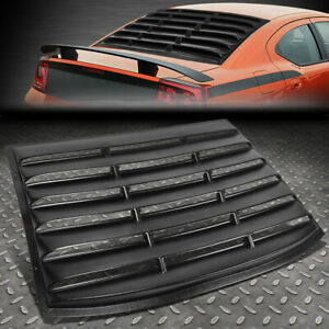 For 06 10 Dodge Charger Rear Window Matte Louver Windshield Sun Shade Cover Vent