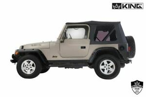 King 4wd Premium Replacement Soft Top Without Upper Doors Jeep Wrangler Tj 97 06