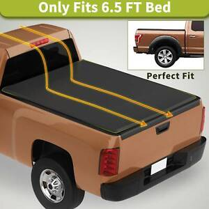 Soft 6 5ft Tri Fold Bed Tonneau Cover Fit For 14 18 Chevy Silverado Gmc Sierra