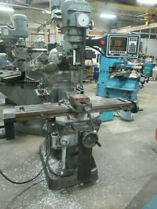 Used Alliant 2 axis Cnc Prototrak Knee Mill W 3rd Axis Readout Accessories dp