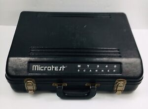 Microtest Mt340 Handheld Cable Tester Scanner Super Injector Case Adapter
