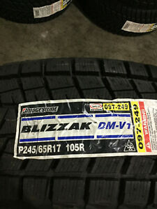 4 New 245 65 17 Bridgestone Blizzak Dm V1 Snow Tires