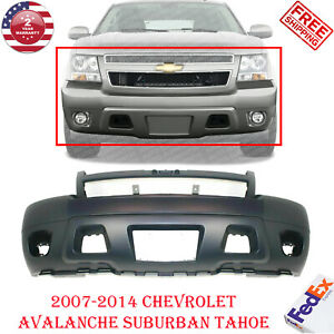Front Bumper Primed Fits 2007 2014 Chevy Avalanche Suburban Tahoe W Fog Holes