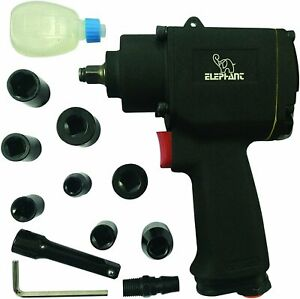3 8 Impact Wrench Air Pneumatic 9000 Rpm Torque 400 Ft Lbs With 8 Socket Set