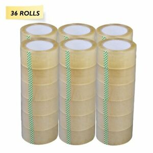 36 Rolls Clear Packing Tape 2 X 55 Yds Sealing Box Carton Shipping Mailing Tape