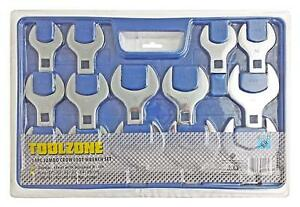 14pc 1 2 Drive Jumbo Crows Foot Metric Spanner Wrench Set Open End 27mm 50mm