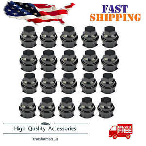 20 Pack Black Wheel Nut Cover M24 2 0 Hex 19mm 9593028 9593228 Fit For Gm