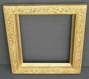 Antique Aesthetic Victorian Ornate Flower Leaf Gold Picture Frame 9 1 2 X 11 1 2
