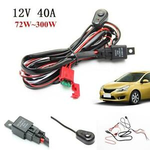 12v Wiring Harness Kit With Fuse Relay Switch For 2 Led Work Light Bar Fog Light