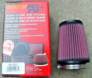 K N Ru 5111 Performance Air Filter 5 75in Tall Round Tapered 3 76mm Inlet