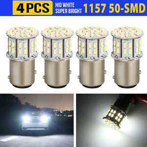 4pcs 6000k Super White 1157 Bay15d 50 Smd Led Tail Stop Brake Light Bulbs 7528